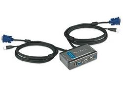 ПЕРИФЕРИЯ KVM SWITCH D-LINK DKVM-2KU 2port USB